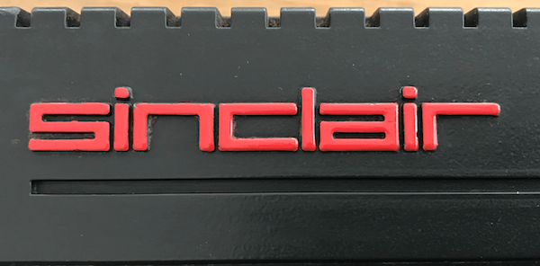 Cleaned and repainted SINCLAIR logo
