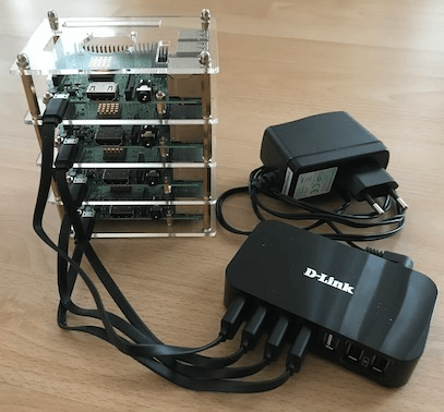 Mining-stack of Raspberry Pi's